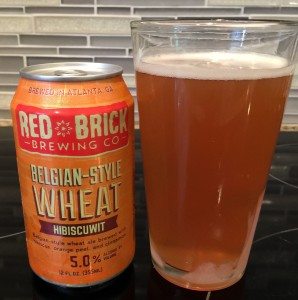 Hibiscuwit Belgian Wheat by Red Brick Brewing Co